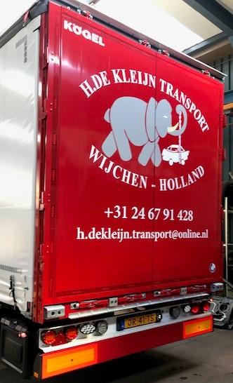 Transport achterkant vrachtwagen
